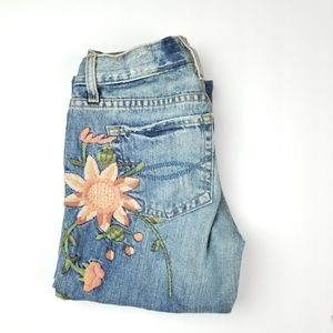 Abercrombie & Fitch Embroidered Floral Jean (#38)